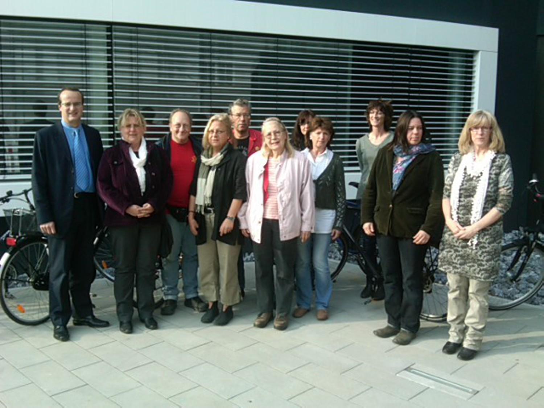 Besuchergruppe der Grünen Fraktion bei der Stadtwerke Lemgo GmbH