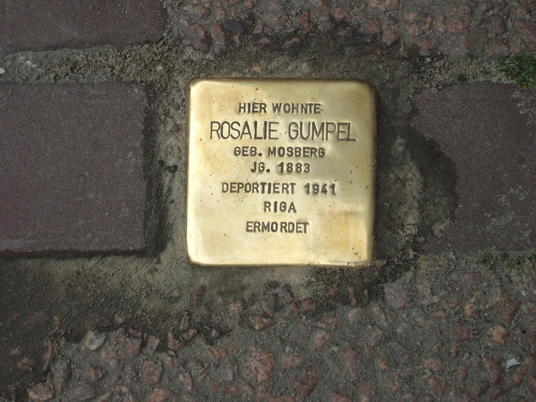 Stolperstein für Rosalie Gumpel (ermordet)