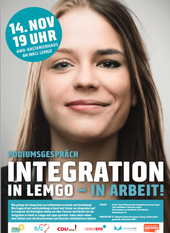"Plakat ""Integration in Arbeit"""