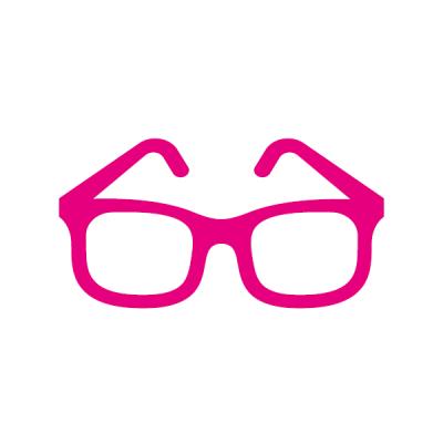 Piktogramm magenta Brille