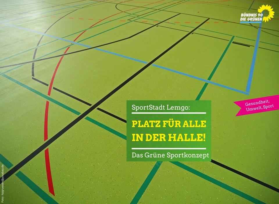 SportStadt Lemgo - Platz für Alle in der Halle - das Grüne Sportstättenkonzept