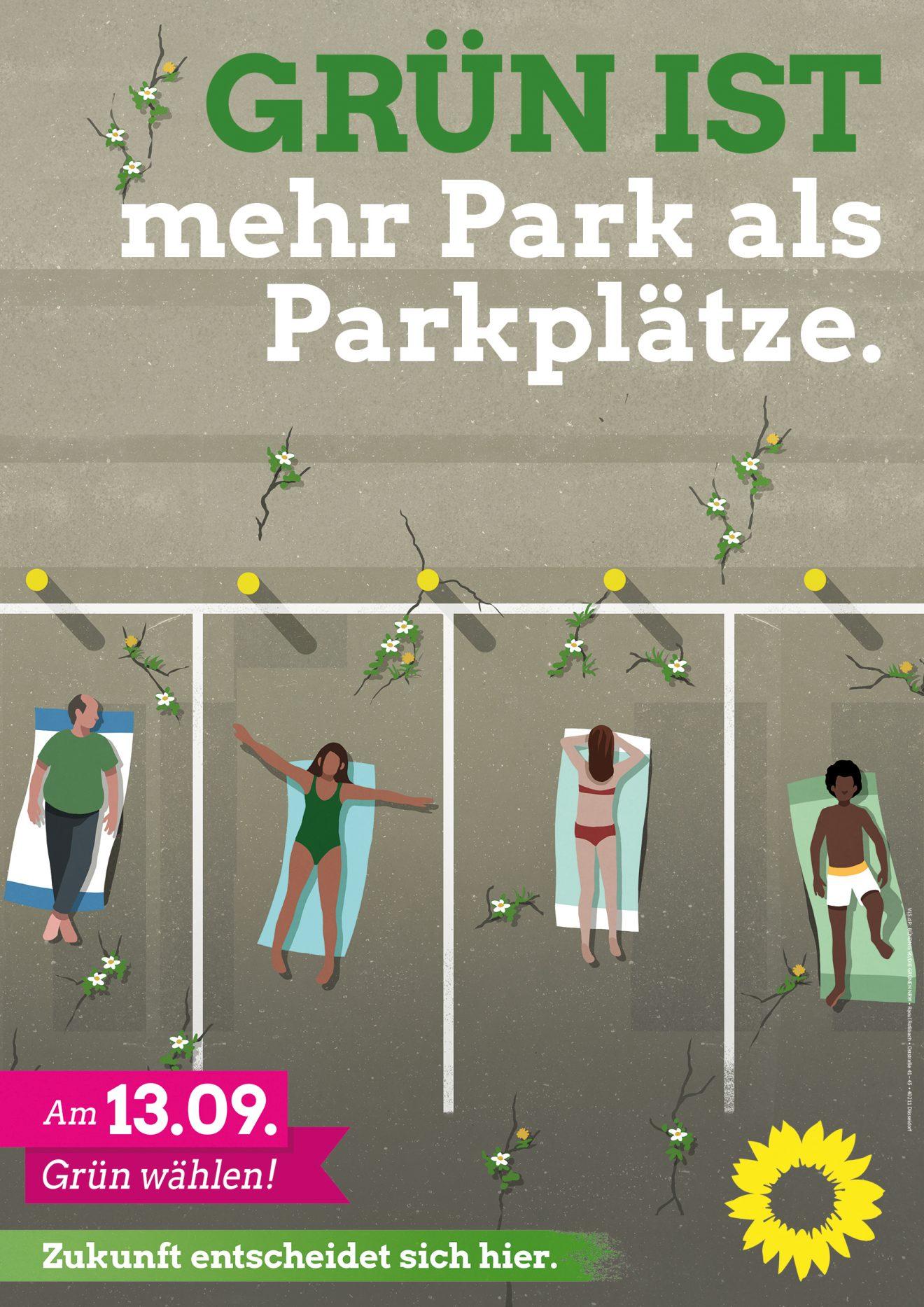 GRÜN IST mehr Park als Parkplätze.