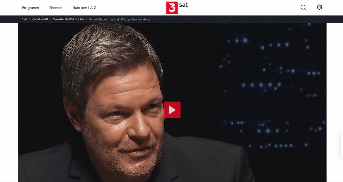 Robert Habeck im 3Sat-Interview