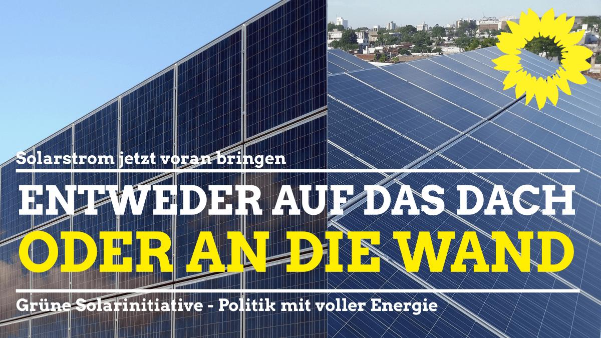 Wir werden mehr Druck beim Solarstrom-Ausbau machen