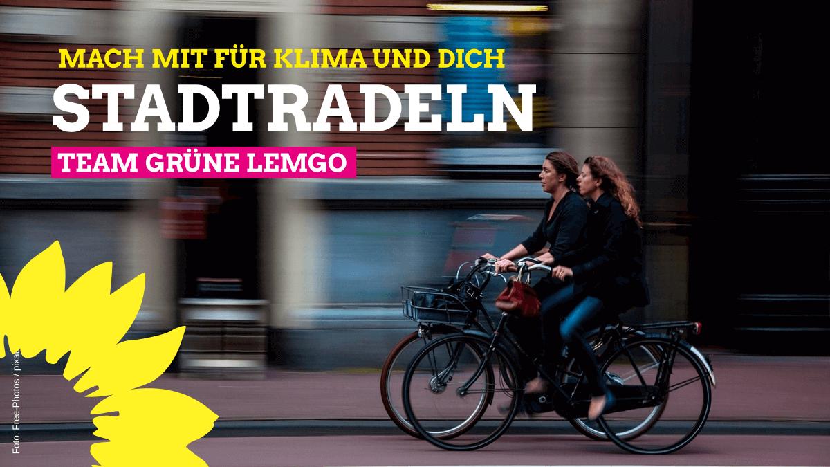 """""""Team Grüne Lemgo"""" beim Stadtradeln dabei"""
